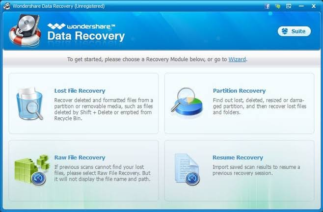 Wondershare Data Recovery 8.2.1 + Crack Download
