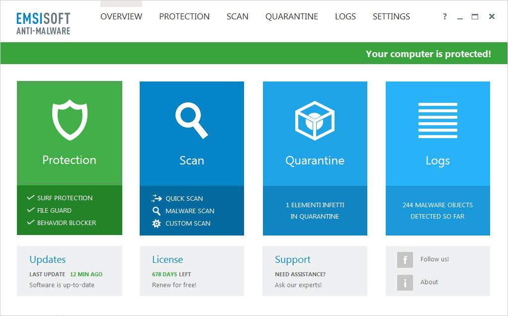 Emsisoft Anti-Malware 2020 Crack + License Key Download